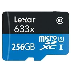 Lexar 256GB 高性能 633x クラス10 microSDXC UHS-I メモリーカード (認定整備済み)