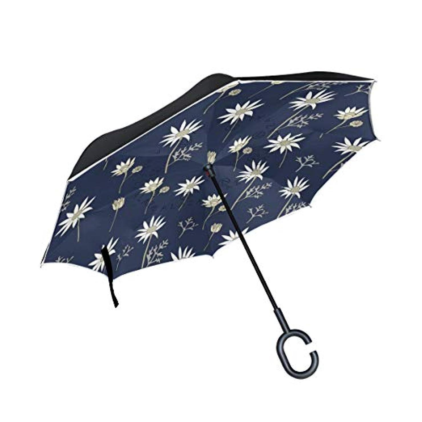 人里離れた揺れる生物学Chovy 逆転傘 長傘 逆さ傘 逆折り式傘 メンズ 車用傘 自立傘 手離れC型手元 きっか 和風 和柄 花柄 青 ブルー かわいい 可愛い 日傘 折りたたみ UVカット 晴雨兼用 男女兼用 レディース 二重傘 撥水加工 耐風 丈夫 大きい 梅雨対策 雨傘 遮光断熱