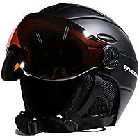 バイザースキースノーボードヘルメット分離雪マスク反霧アンチUV統合ゴーグルシールド低重量大人男性女性