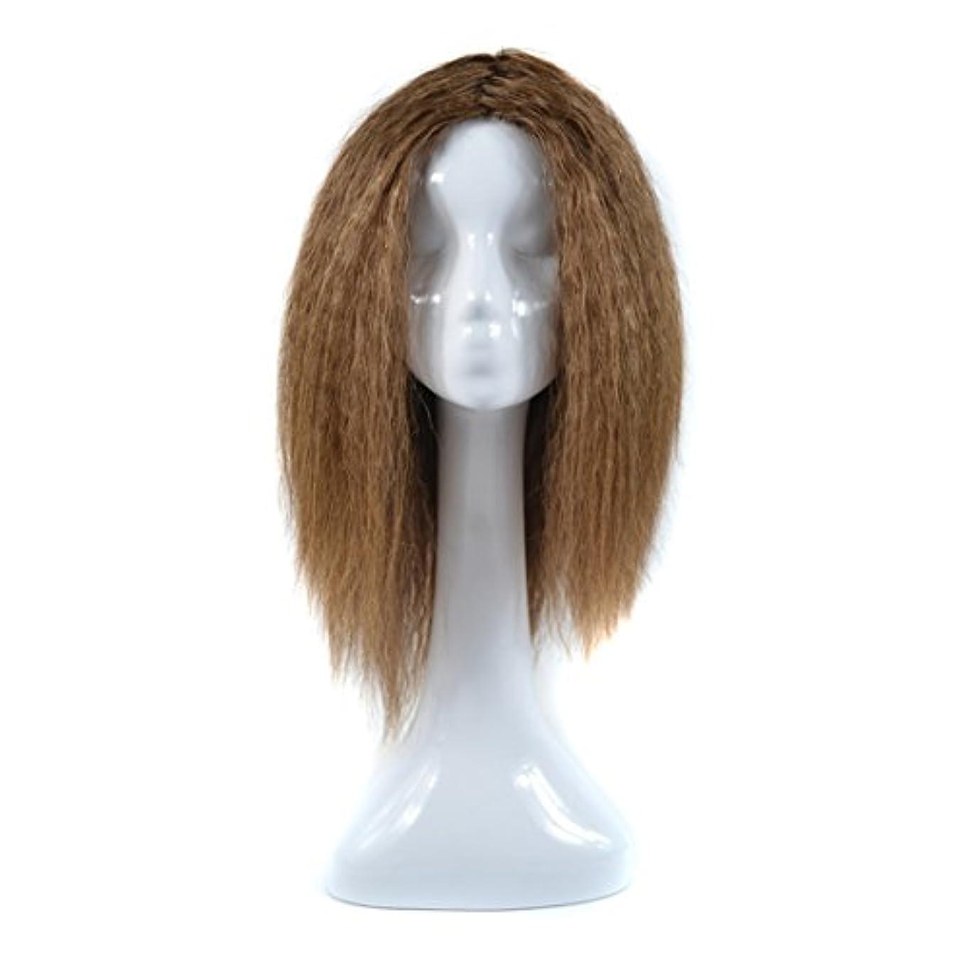 練習追い出すあなたはJIANFU (20inch /ライトブラウン、20inch / Brownish Black)女性のためのコーンホットロングカーリーウィッグ人間のヘアNon-iron染めシルクウィッグリアルナチュラルヘア (Color...