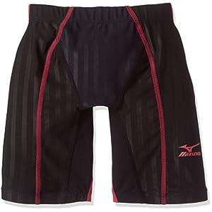 MIZUNO(ミズノ) レース用競泳水着 ジュニア(男の子) FX・SONIC ハーフスパッツ FINA承認 N2MB743096 140cm ブラック×レッド