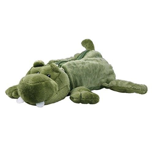 (ビグッド)Bigood 可愛い ぬいぐるみポーチ アニマルシリーズ キュートな筆箱 コスメケース 文房具おもちゃ 小物入れ 化粧入れ ワニ