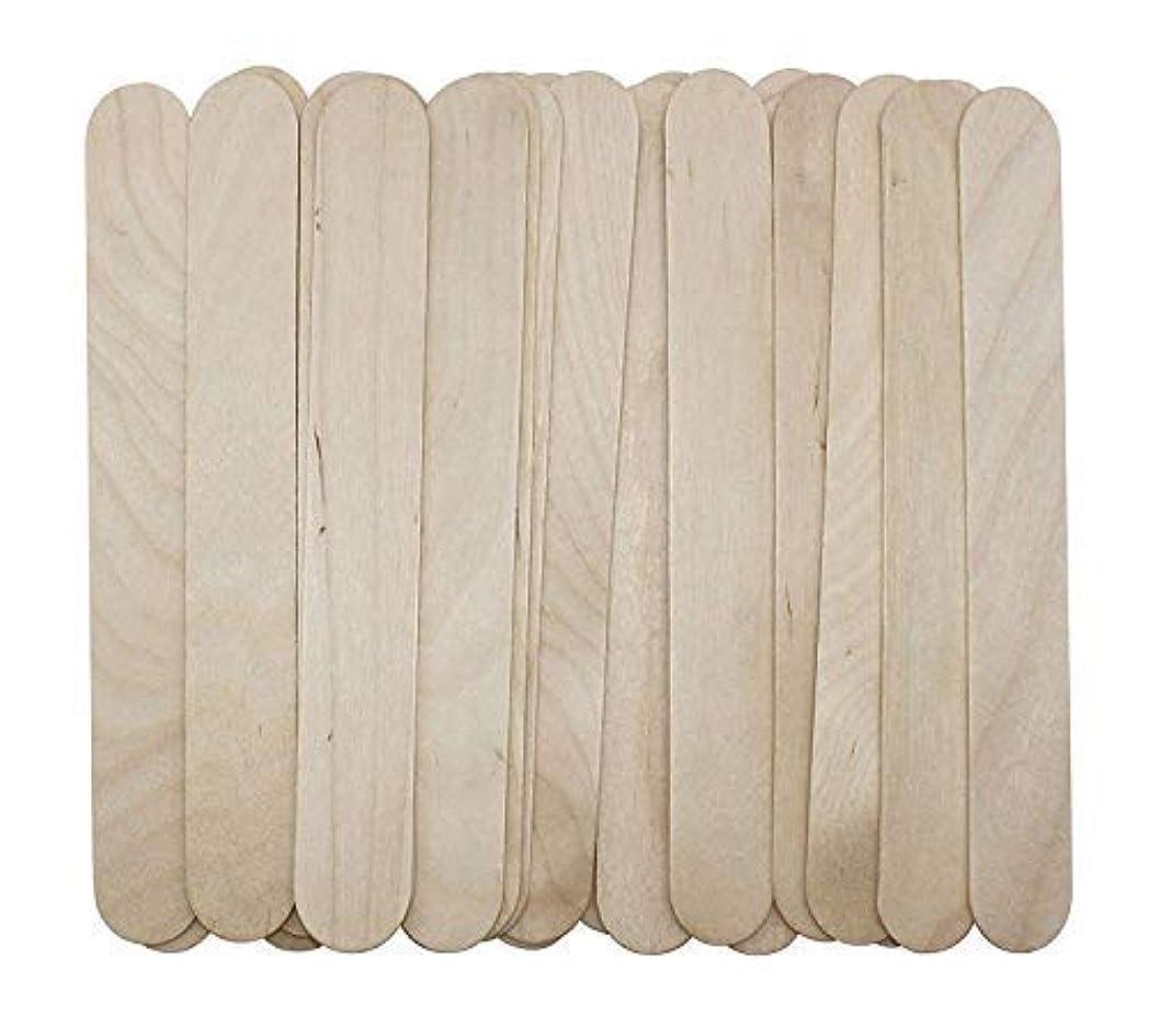 さらに悪因子コーチ100 Large Wax Waxing Wood Body Hair Removal Craft Sticks Applicator Spatula 141[並行輸入]