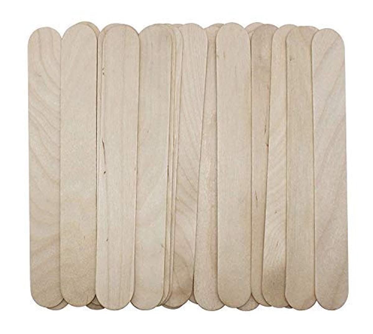 フロントパラナ川夜間100 Large Wax Waxing Wood Body Hair Removal Craft Sticks Applicator Spatula 141[並行輸入]