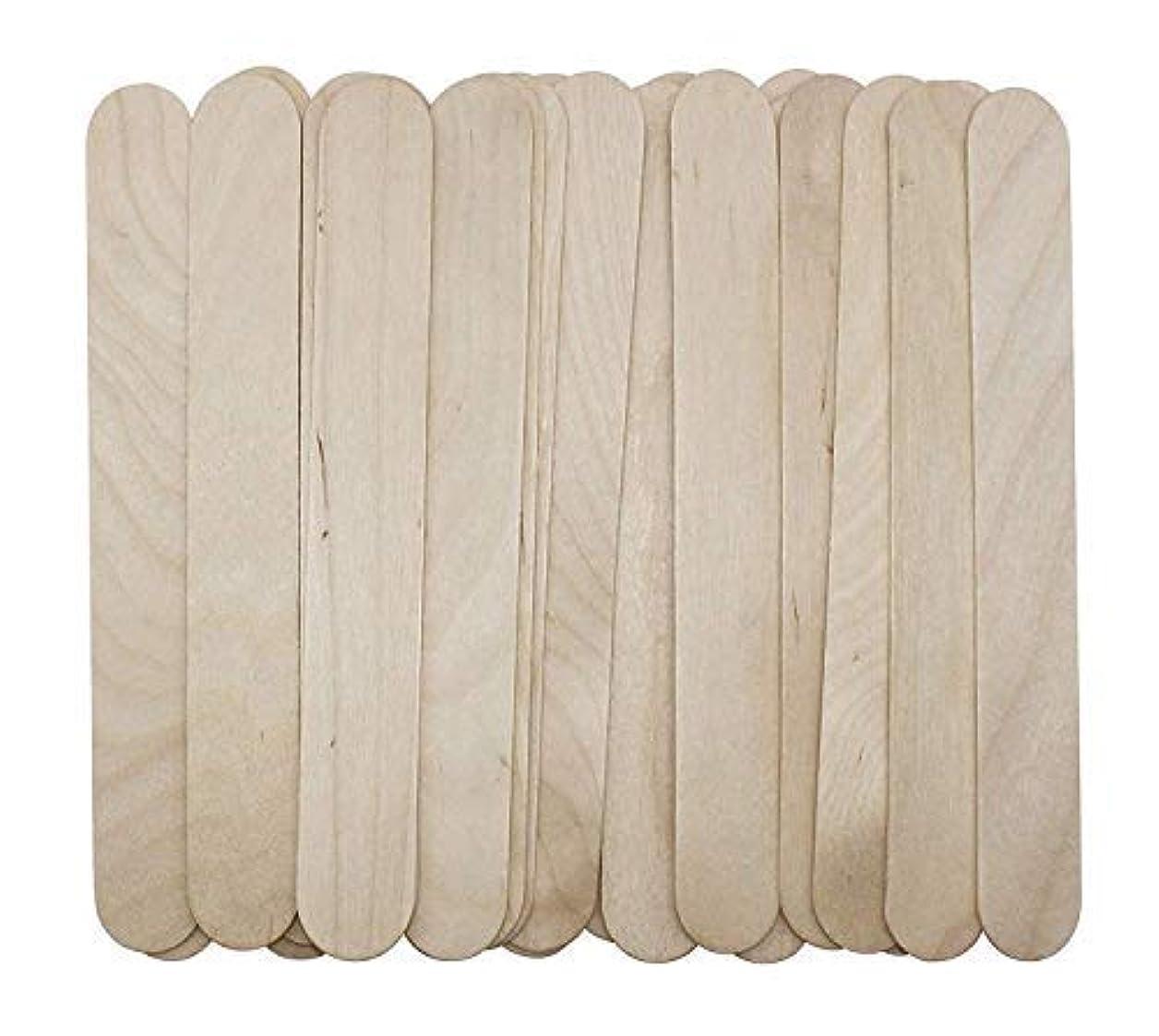 プロジェクター非常に同盟100 Large Wax Waxing Wood Body Hair Removal Craft Sticks Applicator Spatula 141[並行輸入]