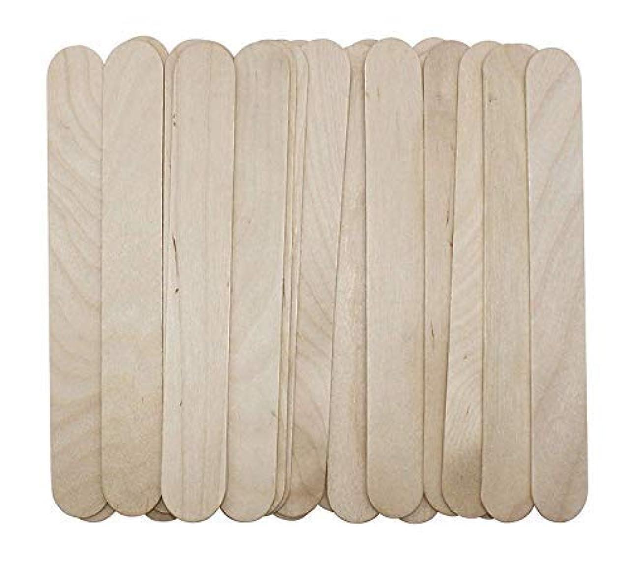 乳製品重くする求人100 Large Wax Waxing Wood Body Hair Removal Craft Sticks Applicator Spatula 141[並行輸入]