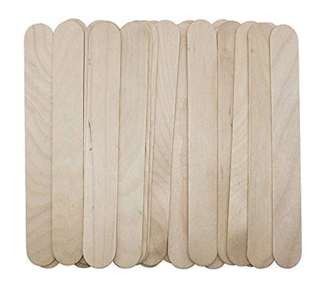 フォージ思いやりのある理解する100 Large Wax Waxing Wood Body Hair Removal Craft Sticks Applicator Spatula 141[並行輸入]