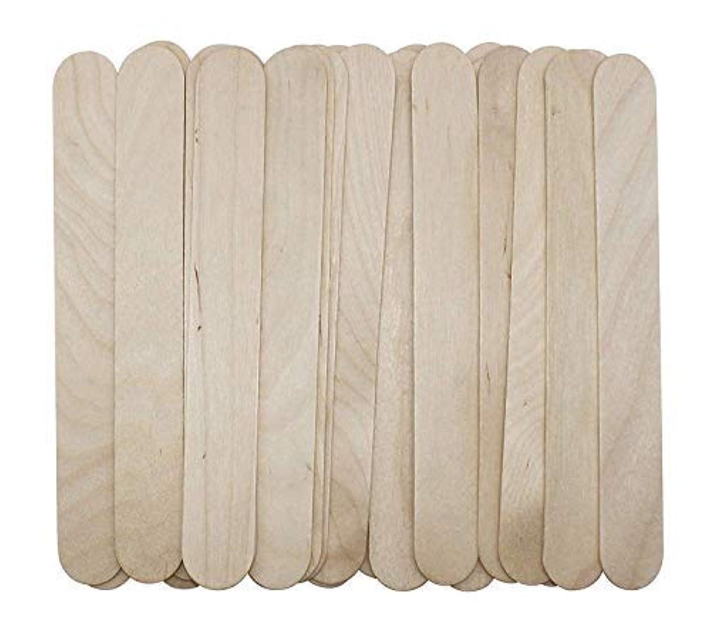 珍しい前提条件シチリア100 Large Wax Waxing Wood Body Hair Removal Craft Sticks Applicator Spatula 141[並行輸入]