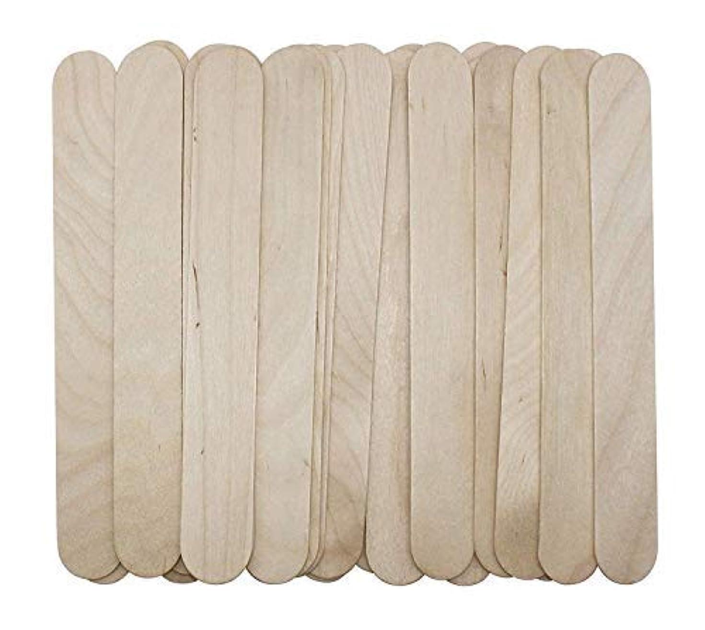間プロポーショナル隠された100 Large Wax Waxing Wood Body Hair Removal Craft Sticks Applicator Spatula 141[並行輸入]