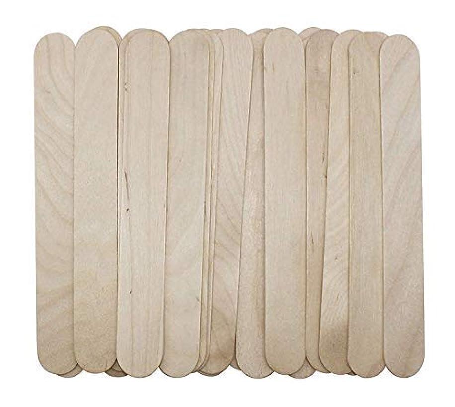 膨張する納得させる霊100 Large Wax Waxing Wood Body Hair Removal Craft Sticks Applicator Spatula 141[並行輸入]
