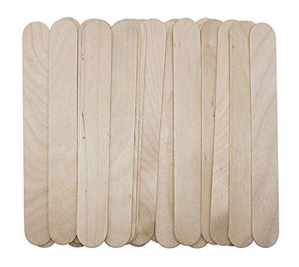 寄付弱まる不毛100 Large Wax Waxing Wood Body Hair Removal Craft Sticks Applicator Spatula 141[並行輸入]