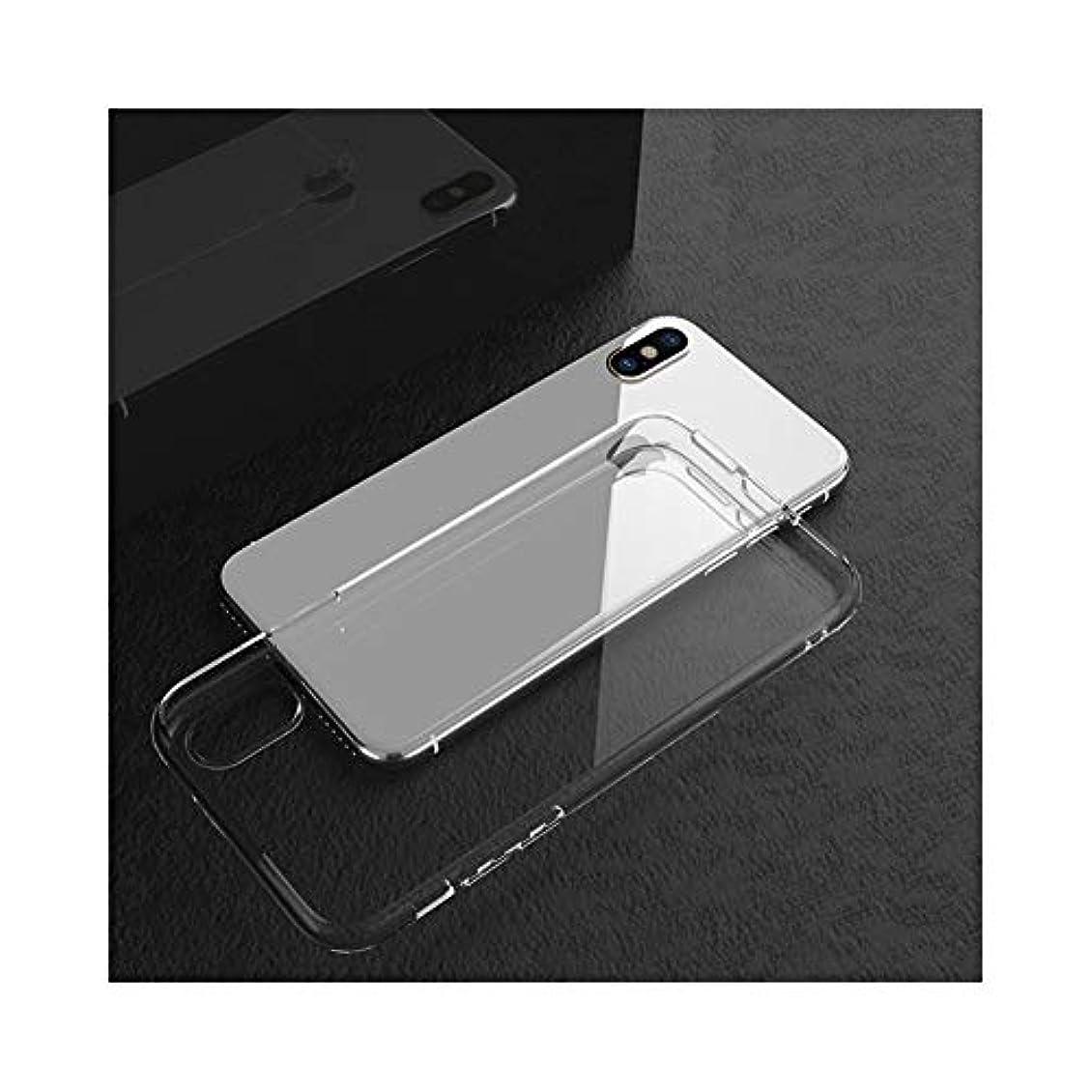 スライス差別的スケルトンHAONANA ビジネススリムフィット IPhone XのX XR 8つの7つの6つのプラスケース超薄型スーパーのためのクリスタルクリア衝撃吸収TPUラバージェルケース (Color : Clear, Size : For iPhone 6 plus)