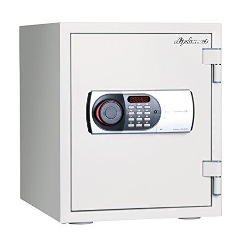 ディプロマット 125EN88 60分耐火金庫 25ℓ テンキー式・警報アラーム付き ホワイト