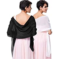 Kate Kasin Soft Chiffon Scarve Shawls Wraps and Pashmina for Evening Party KK229