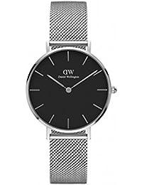 [ダニエル ウェリントン] DANIEL WELLINGTON 腕時計 クラシックペティート スターリング 32mm DW00100162 レディース ブラック  [並行輸入品]