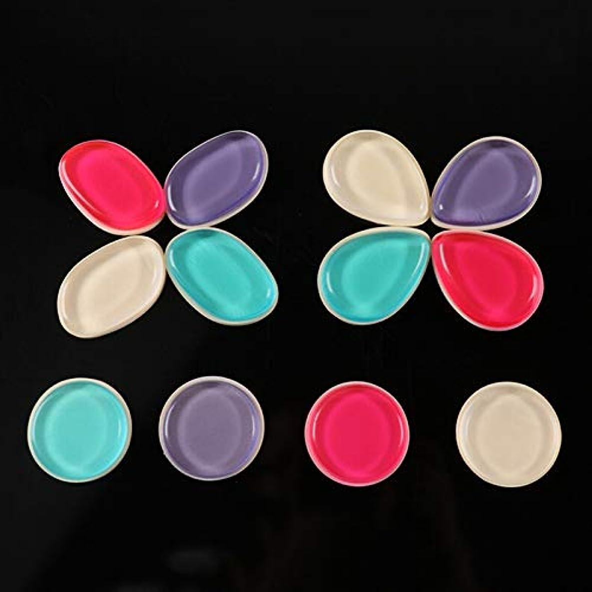 用量ステーキ費やすDOMO シリコンパフ 透明 清潔しやすい メイクスポンジ ゲルパフ ゼリーパフ化粧品 ファンデーション メークアップツール