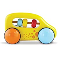 Vilac Push and Pull Baby Toy Abacus Car, Yellow by Vilac