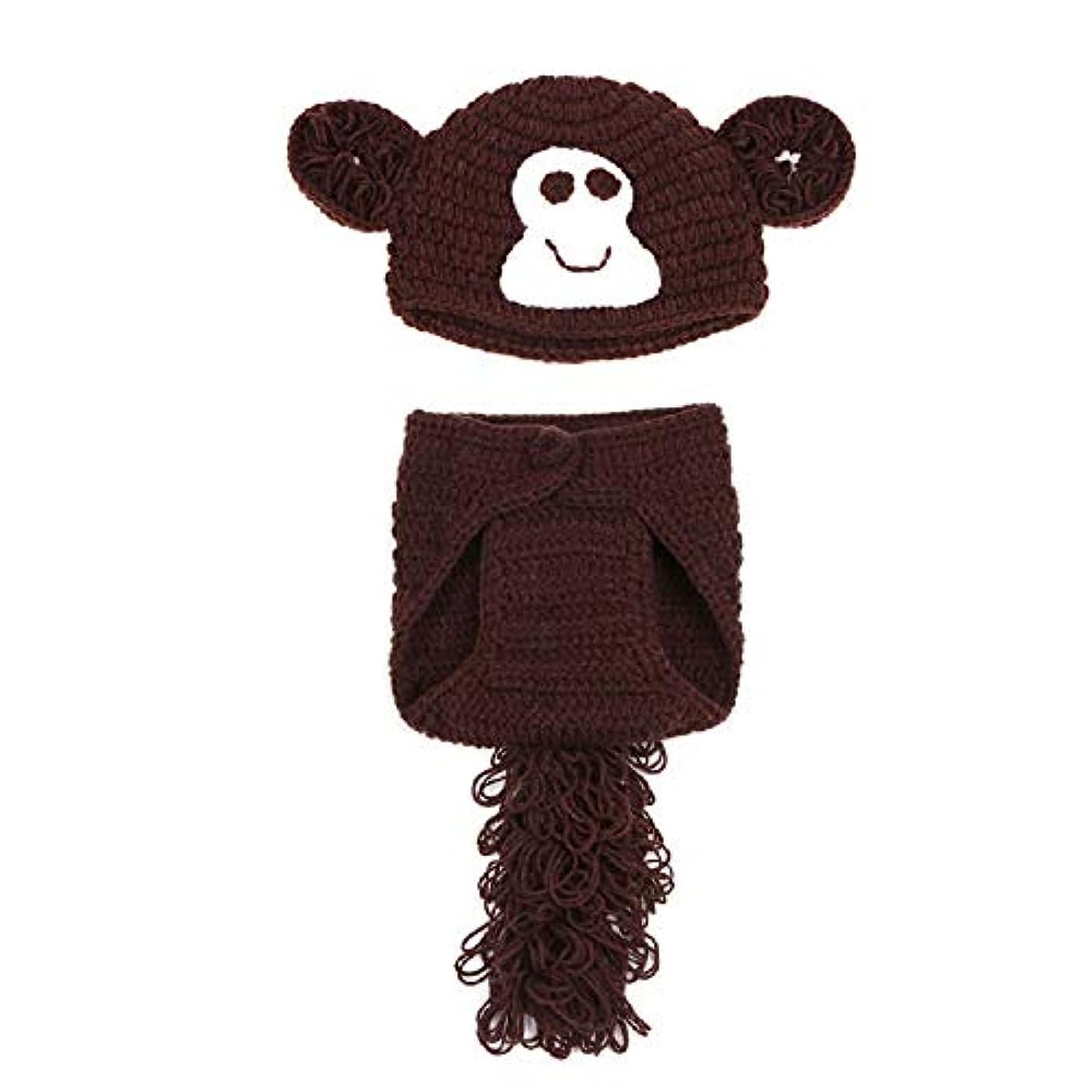 イタリック毒他の場所Matissa 新生児 女の子 男の子 かぎ針編み ニットコスチューム 写真撮影用小道具 帽子 服装