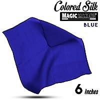 Magic Makers Professional Grade 6 Inch Magician's Silk - Blue