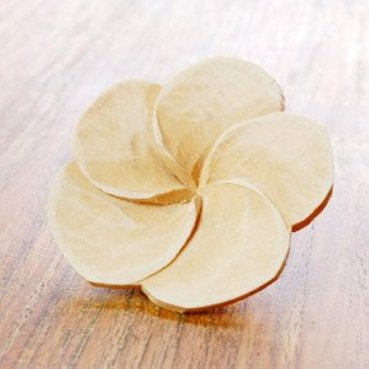 地震マイクロフォン日付付き【アジア工房】プルメリアの花びらをモチーフにした木製アロマフラワー[Aタイプ][10891] [並行輸入品]