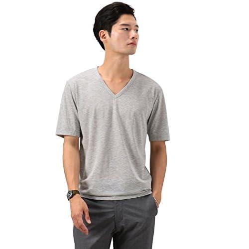 (ユナイテッドアローズ グリーンレーベル リラクシング) UNITED ARROWS green label relaxing [ドライグリーン] KC ◎DRY/G Vネック S/S Tシャツ 32171994234 1550 MD.GRAY(15) M