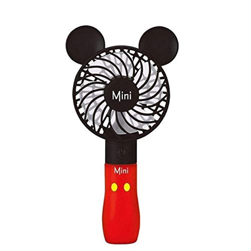 緩やかな気質ナビゲーションミニファン ファンポータブルハンドヘルド充電式内蔵バッテリーUSBポートポータブル空冷ミニファンホーム屋外旅行オフィス ハンドヘルド (Color : Red)