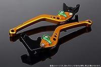 SSK アジャストレバー スタンダードロング レバー本体カラー:マットゴールド アジャスターカラー:マットグリーン YZF-R6 1999-2004 FZ1 FAZER 2001-2005 YZF-R1 2002-2003 LVBM034GD-GN