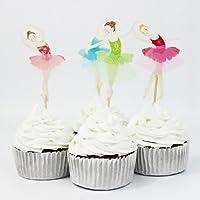 24 Ballerina Cupcake Toppers with Tulle Tutu [並行輸入品]