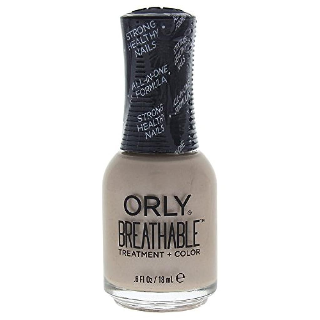 冷笑する形式木製Orly Breathable Treatment + Color Nail Lacquer - Heaven Sent - 0.6oz / 18ml