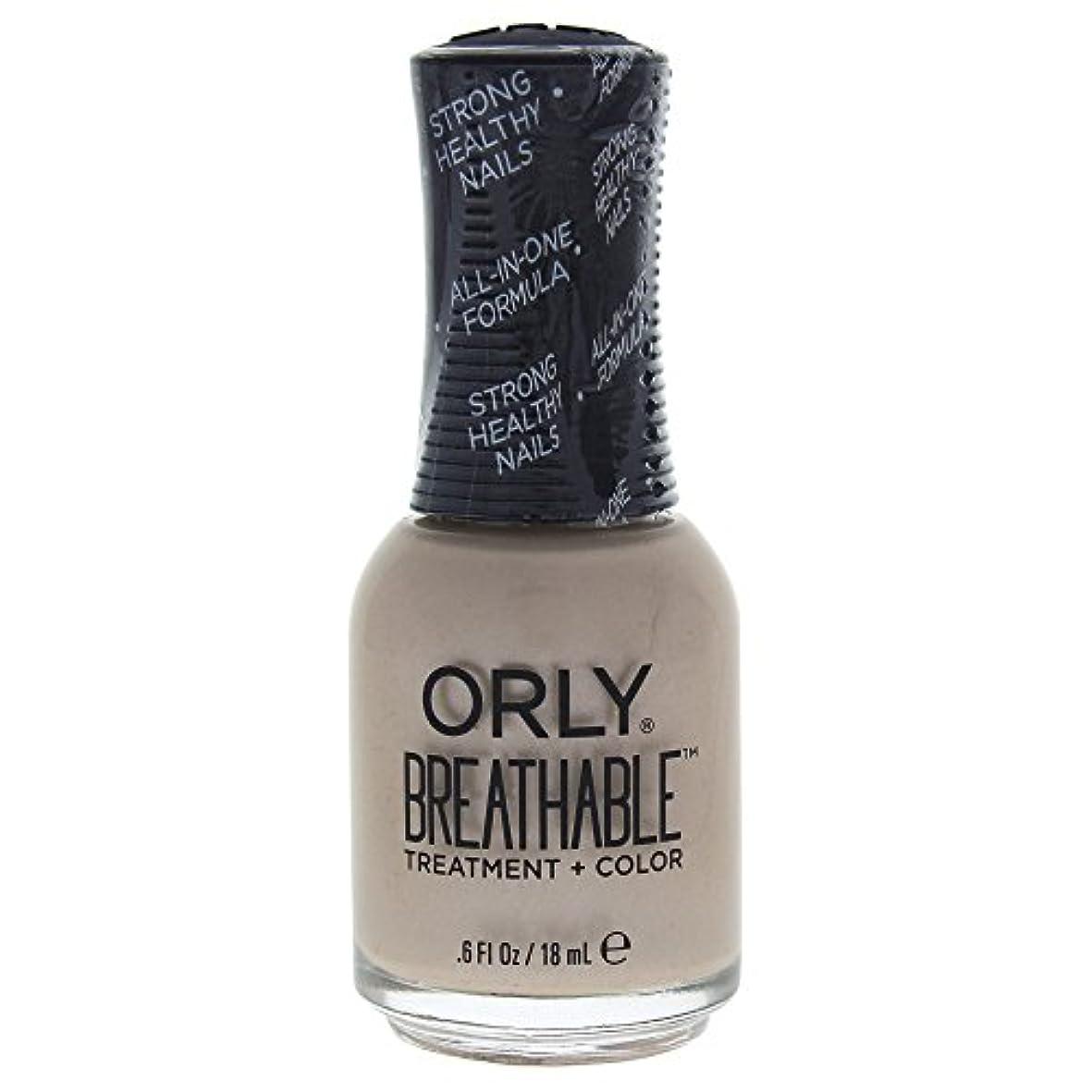 レコーダーおびえたルーOrly Breathable Treatment + Color Nail Lacquer - Heaven Sent - 0.6oz / 18ml