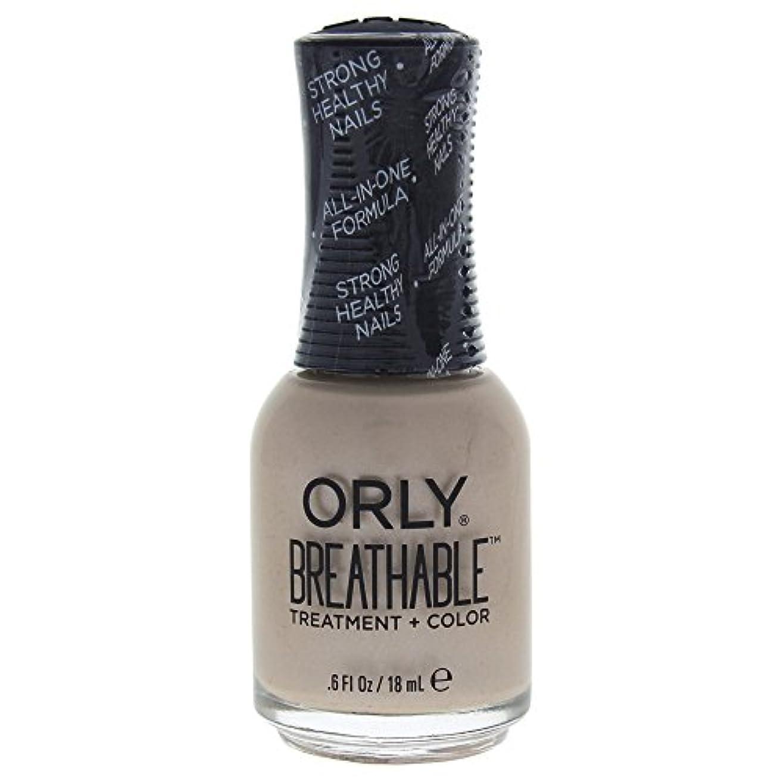 密バックグラウンド戦艦Orly Breathable Treatment + Color Nail Lacquer - Heaven Sent - 0.6oz / 18ml