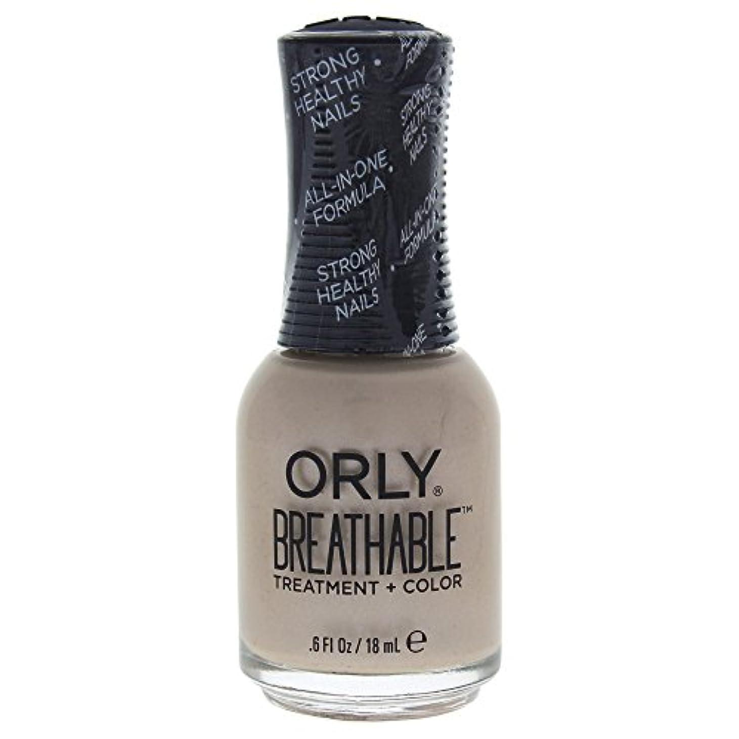 激しい終点国家Orly Breathable Treatment + Color Nail Lacquer - Heaven Sent - 0.6oz / 18ml