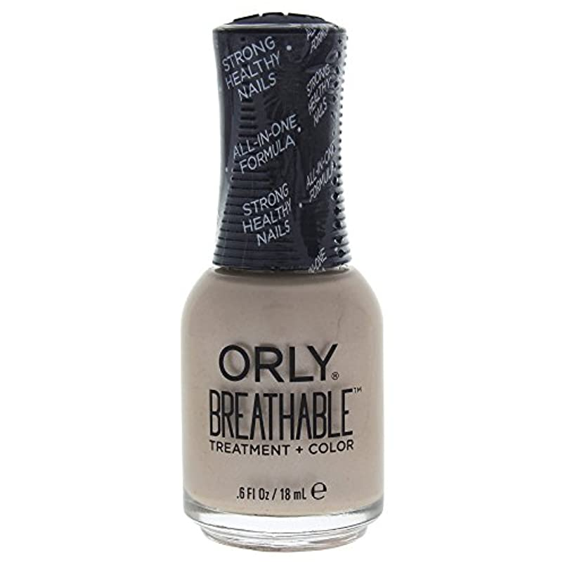 ペンダント機関青Orly Breathable Treatment + Color Nail Lacquer - Heaven Sent - 0.6oz / 18ml