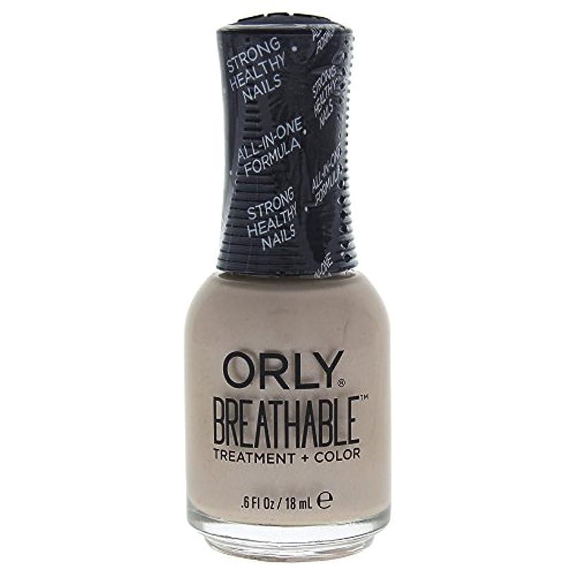 プレゼンスズメバチ甘美なOrly Breathable Treatment + Color Nail Lacquer - Heaven Sent - 0.6oz / 18ml