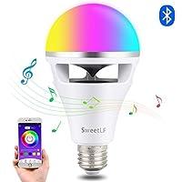 LED電球【最新型】スマートLED スピーカー内蔵 音楽電球 8W 音楽再生 調光調色 マルチカラー ワイヤレスBluetooth4.0 雰囲気ライト LEDライト 省エネ 目覚まし機能 スマホ操作 APPコントロール カラオケ雰囲気