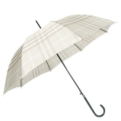 (バーバリー)BURBERRY チェック がお洒落な レディース ジャンプ 雨傘 (長傘)/ ライト ベージュ
