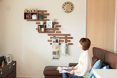 オスマック すのこに掛けられる家具 箱 1マス ダークブラウン KB-1DB 1コ入