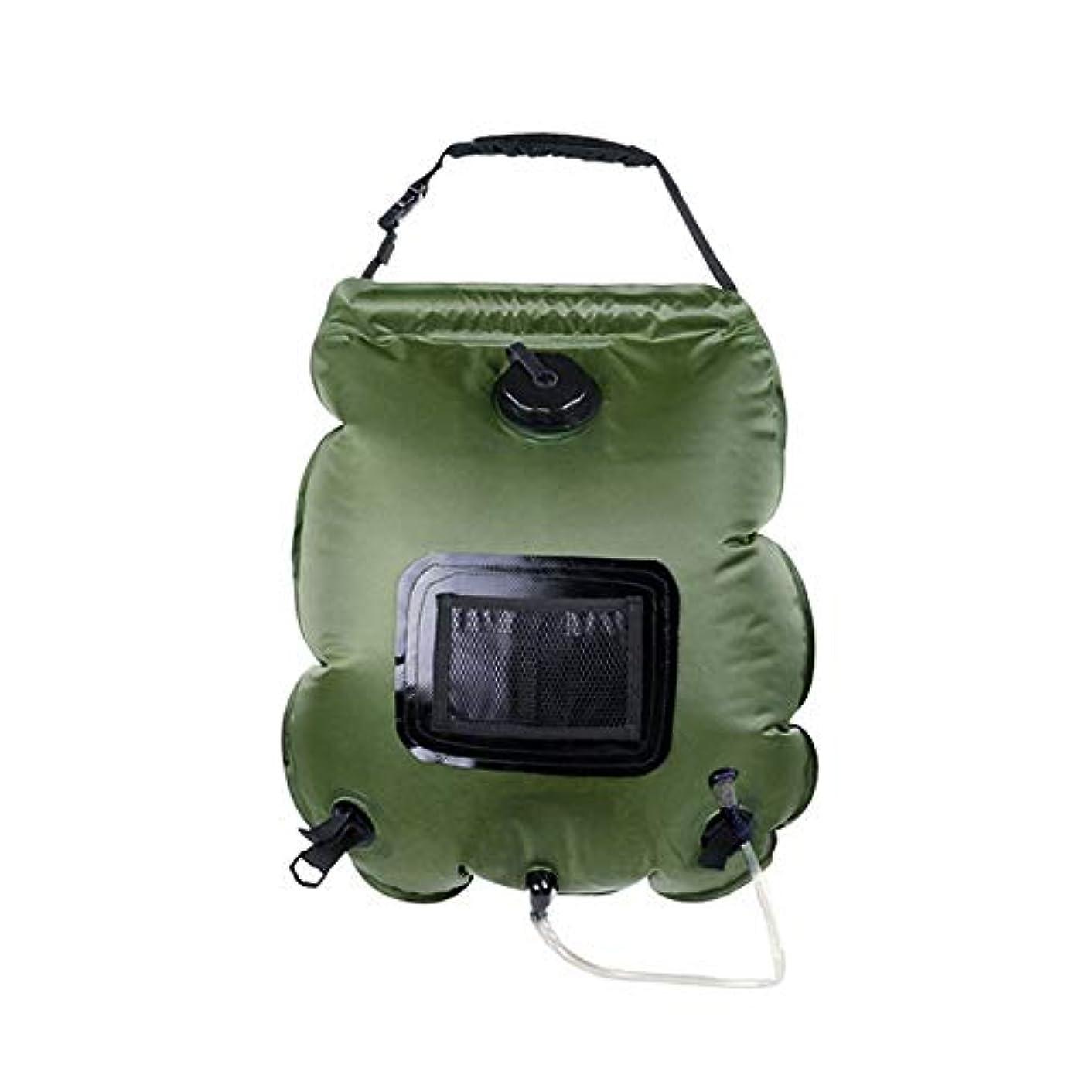 テロ特別にプラスチックRosepoem シャワーウォーターバッグキャンプシャワーバッグサイクリングキャンプ20L丈夫なソーラーシャワーバッグ