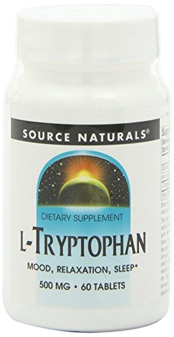 アーティキュレーション喪コレクションSource Naturals - L-Tryptophane 500 mg - 60 Comprimés 海外直送品