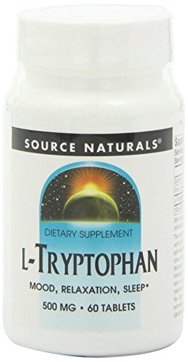 補正スペース偉業Source Naturals - L-Tryptophane 500 mg - 60 Comprimés 海外直送品
