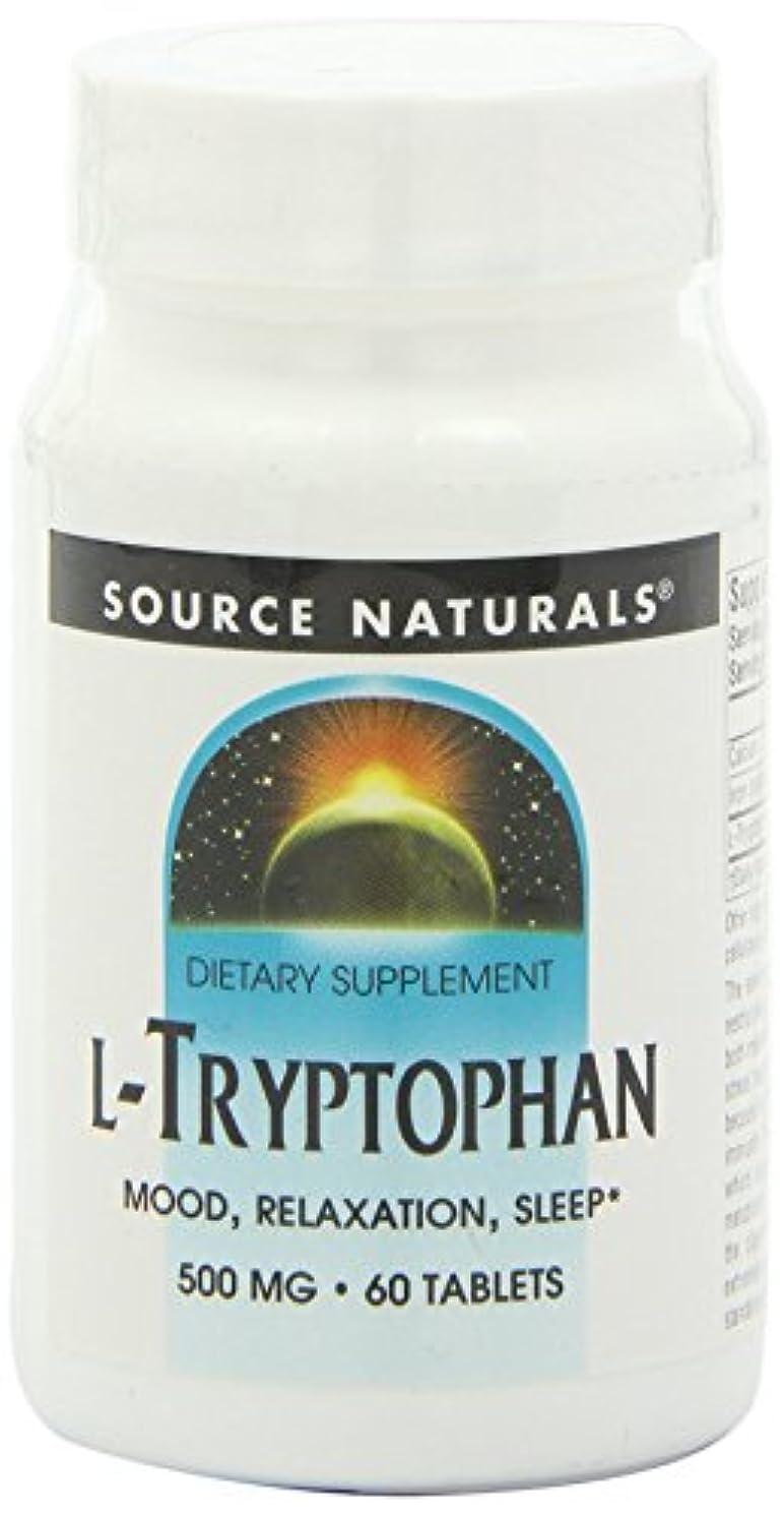 怖がらせる豚オーナーSource Naturals - L-Tryptophane 500 mg - 60 Comprimés 海外直送品