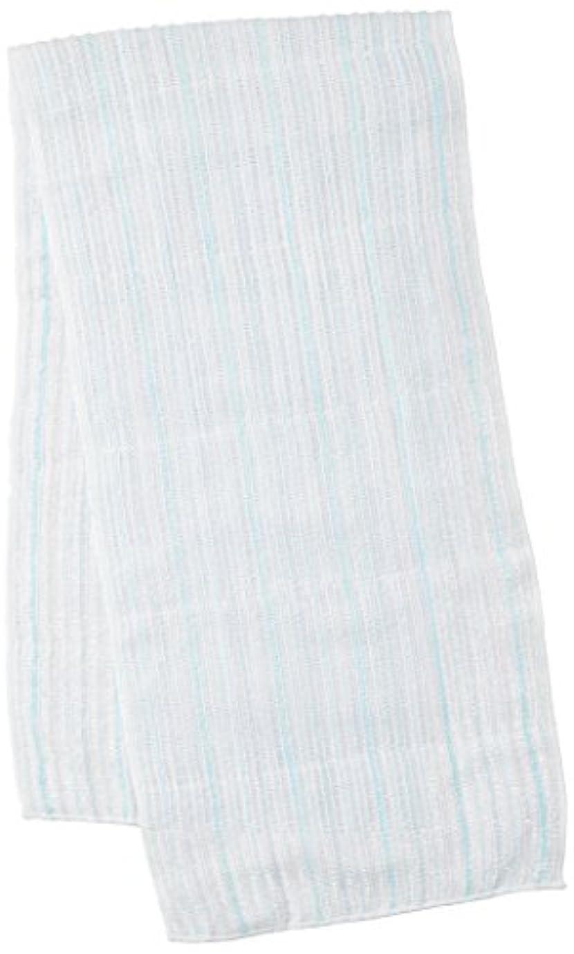 動力学消化世界サンベルム (SANBELM) お風呂 タオル 体洗い  ブルー(BL) 20x100cm 綿あわだちボディタオル Fuwari B33602