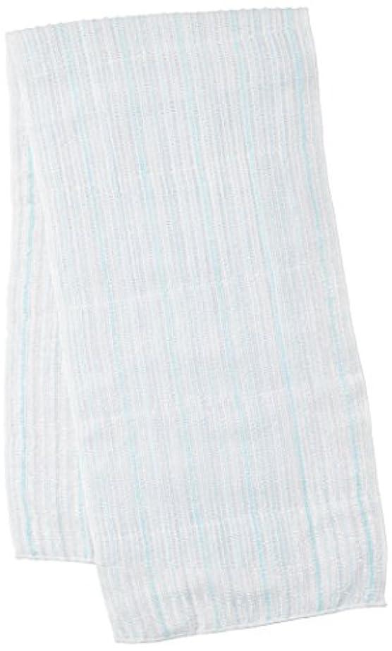 レッスン優越報酬サンベルム (SANBELM) お風呂 タオル 体洗い  ブルー(BL) 20x100cm 綿あわだちボディタオル Fuwari B33602