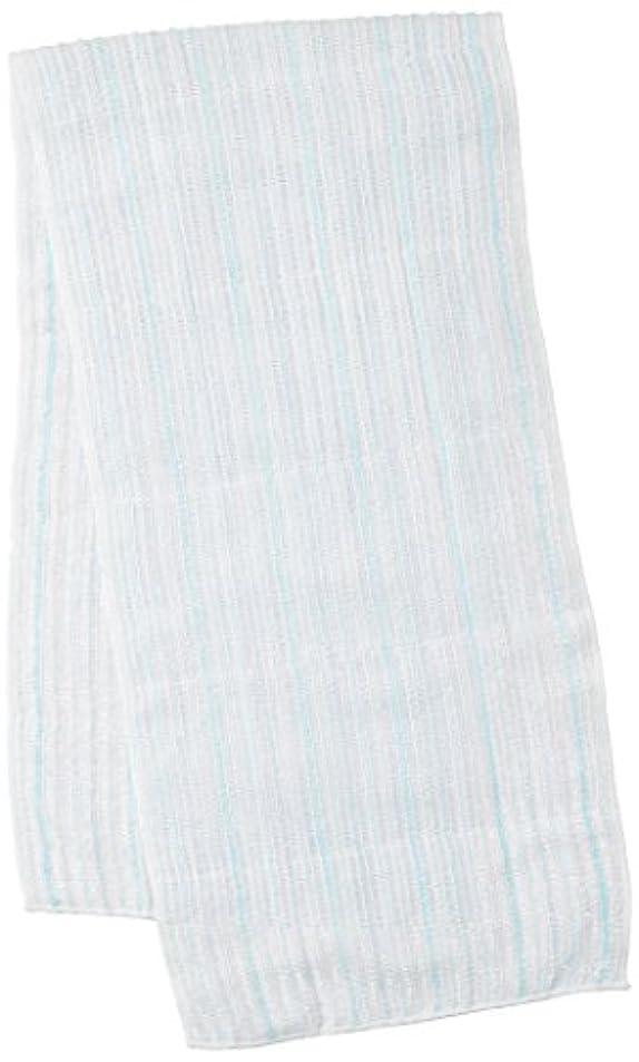 未知の意図的影のあるサンベルム (SANBELM) お風呂 タオル 体洗い  ブルー(BL) 20x100cm 綿あわだちボディタオル Fuwari B33602