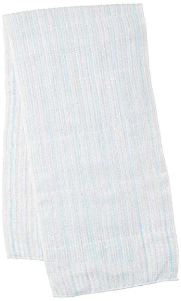 脱獄機転バーチャルサンベルム (SANBELM) お風呂 タオル 体洗い  ブルー(BL) 20x100cm 綿あわだちボディタオル Fuwari B33602