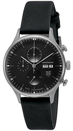 [ドゥッファ]DUFA 腕時計 VANDERROHEChrono ブラック文字盤 デイデイト DF-9021-J1 メンズ 【正規輸入品】
