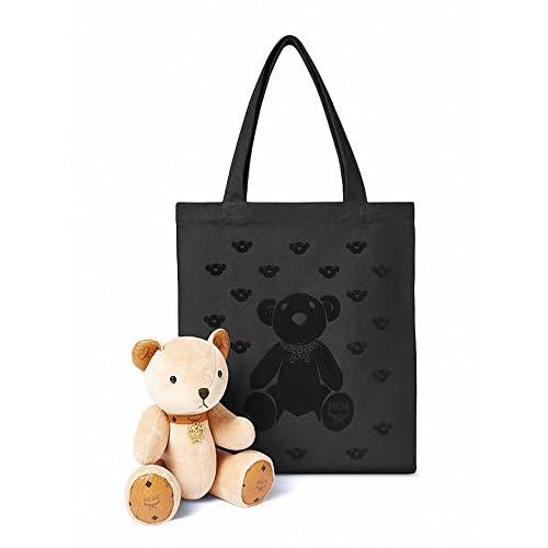 【エムシーエム】 MCM クマのぬいぐるみ エコバッグ Eco Bag with Teddy Bear (Beige) [並行輸入品]