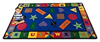 Kid Carpet FE704-44A Colorful Shapes Nylon Area Rug with Bright Colors 7'6 x 12' Multicolored [並行輸入品]