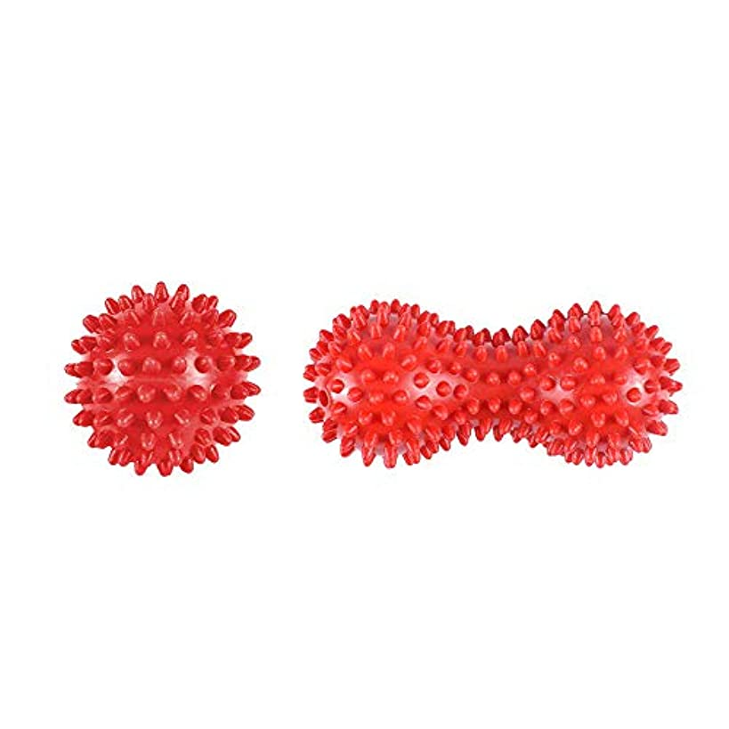 槍削るホバートヨガボール ツボ押しグッズ ツボマッサージ ツインボール マッサージボール ストレッチ ピーナッツ型 筋膜