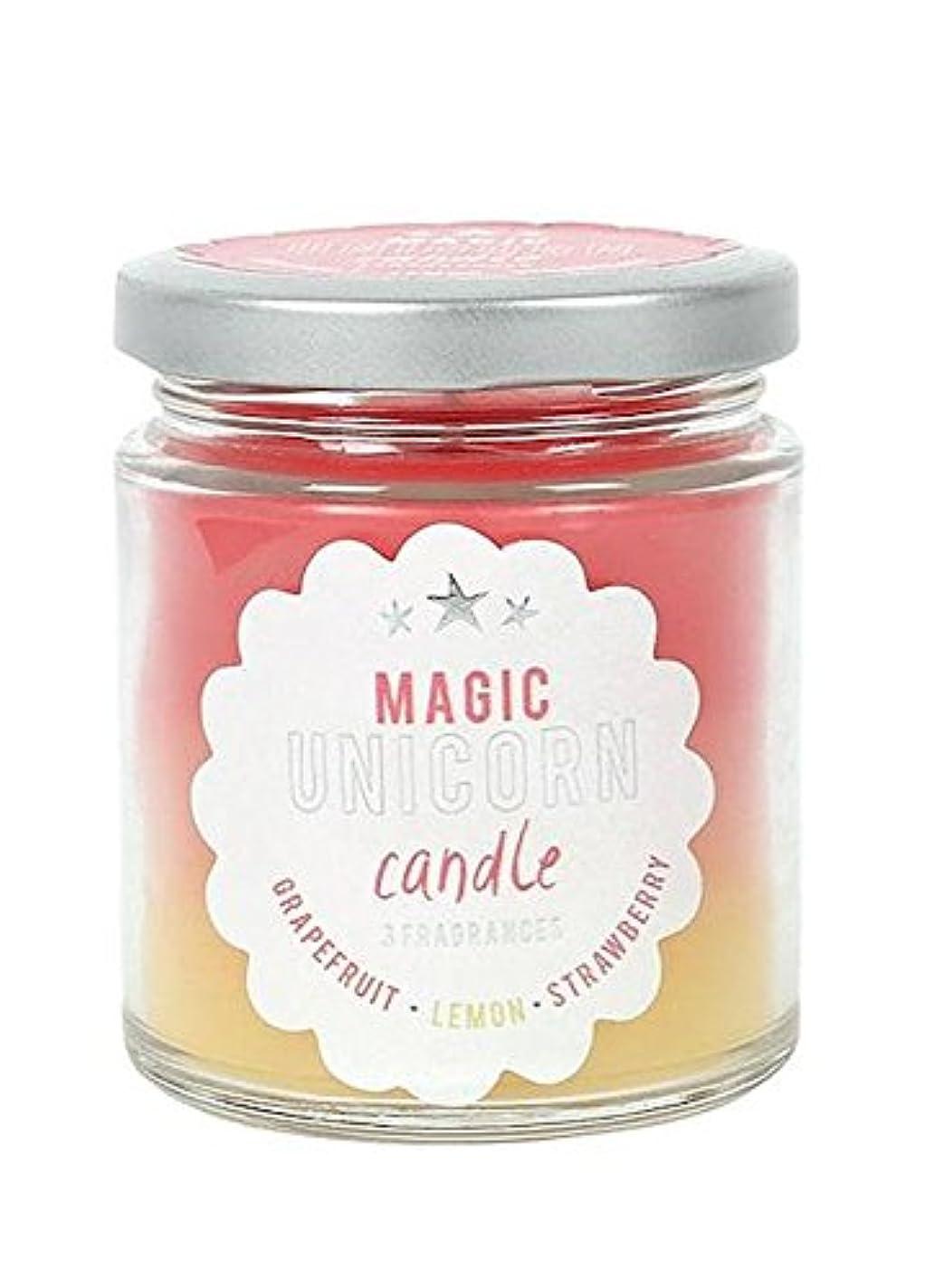 レザー養う外側Magic Unicorn Rainbow Candle